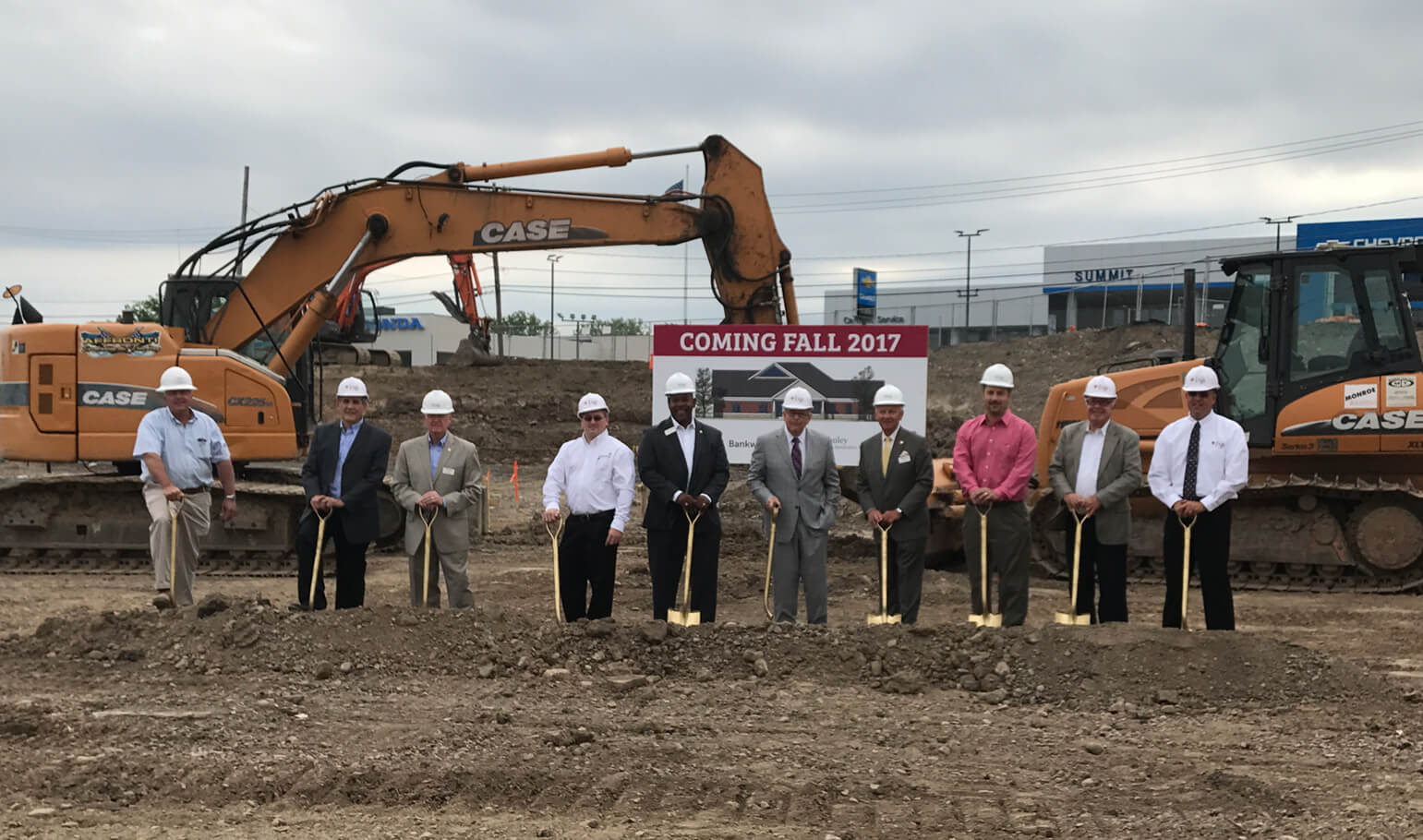 lnb at ground breaking for new grant ave office